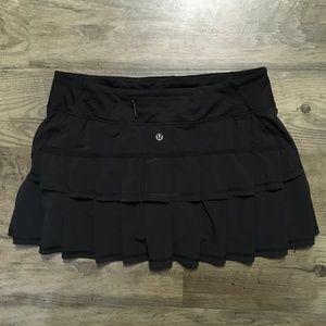 Lululemon Pace Setter Skirt Skort Black NWOT 8 Reg